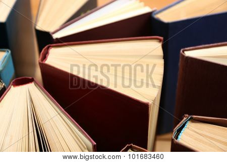 Heart of books, close up
