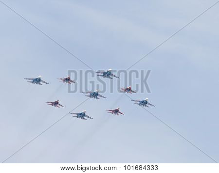 Aerobatics Su-27 And Mig-29