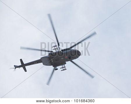 Mi-8 Helicopter In Flight
