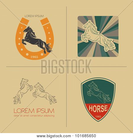 Horse logo and badges templates