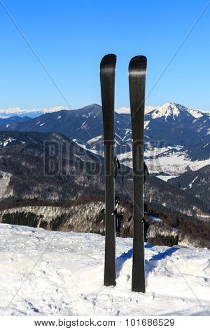 mountain ski on winter resort