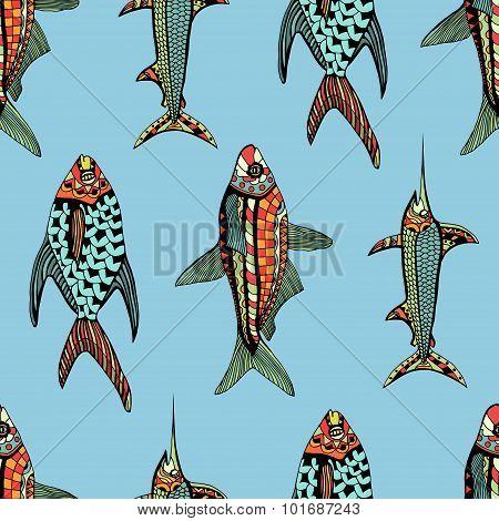 Seamless pattern fish