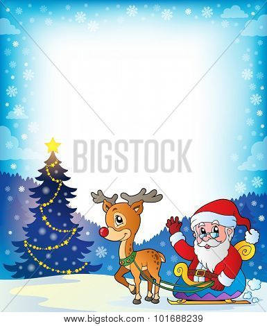 Frame with Santa Claus theme 7 - eps10 vector illustration.