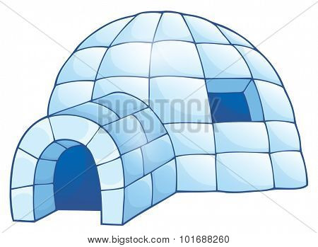 Igloo theme image 1 - eps10 vector illustration.