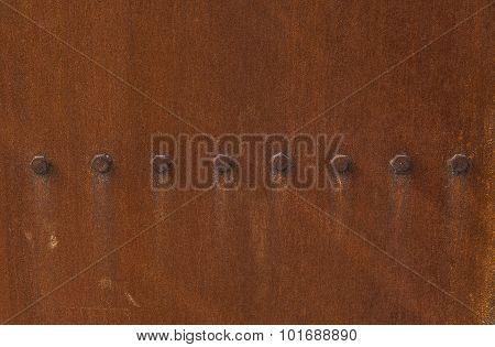 The rusty iron gate