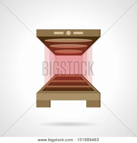 Bakery oven flat color vector icon.