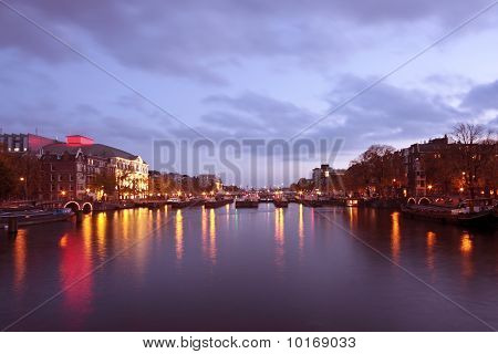 Cityscenic in Amsterdam innercity in the Netherlands