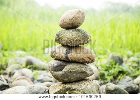 The stacked stone
