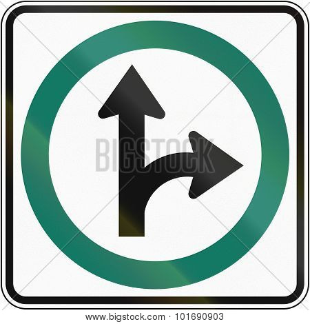 Straight Or Right Direction In Canada