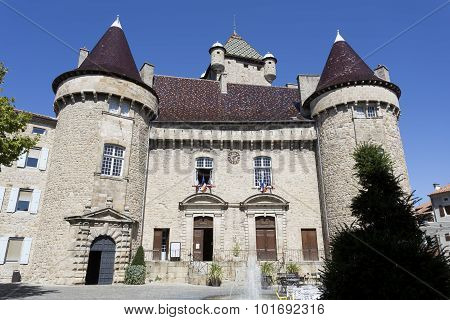 Townhall in the town of Aubenas, France