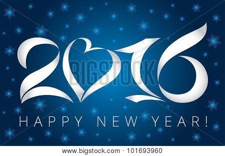 2016 winter card blue