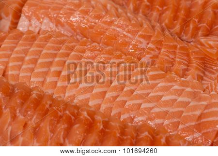 Sliced Fresh Salmon Sushi