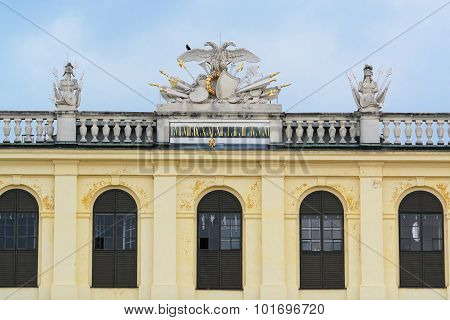 Facade Of Schonbrunn Palace