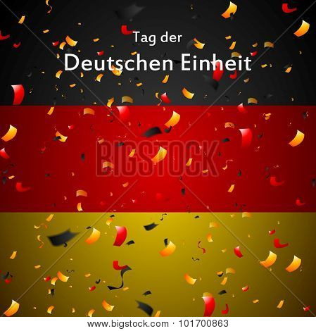 Tag der Deutschen Einheit (eng. The Day of German Unity). Vector design