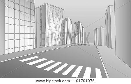 A Crosswalk In The City