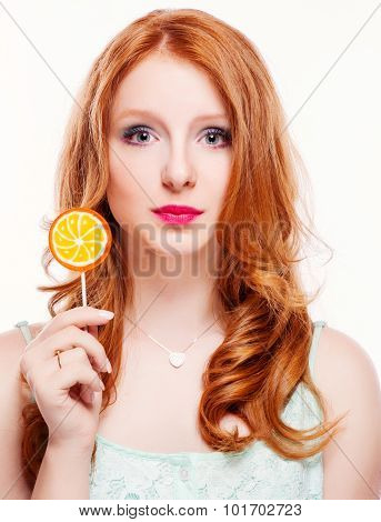 Young Woman With Candy