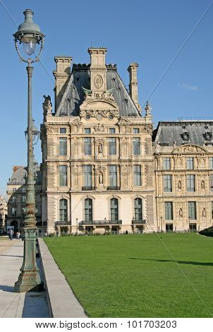 The Building Of The Decorative Arts Library Near Tuileries Garden, Paris, France