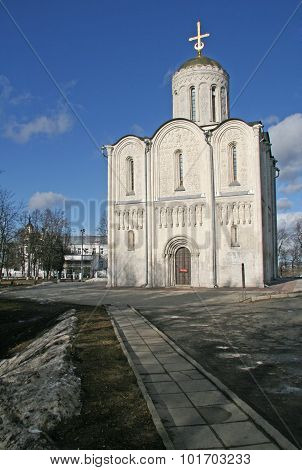 Vladimir, Russia - April 18, 2009: St. Demetrius' Cathedral That Was Built In 13Th Centure, Is Famou
