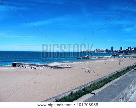 The beach on a clear day