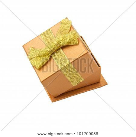 Shiny boxes for gifts with gold bow