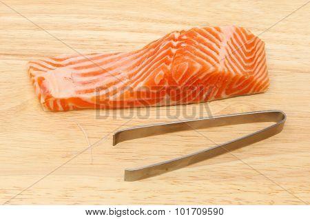 Sea Trout Fillet And Tweezer