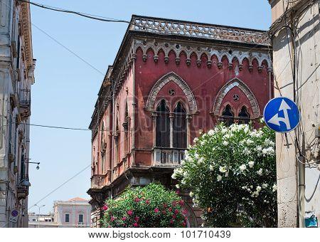Palazzo In Riva Garibaldi In Siracusa, Sicily.