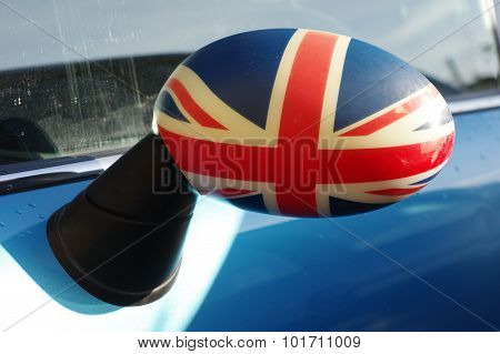 rearview mirror UK flag