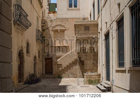 Typical Street Of Siracusa, Sicily..