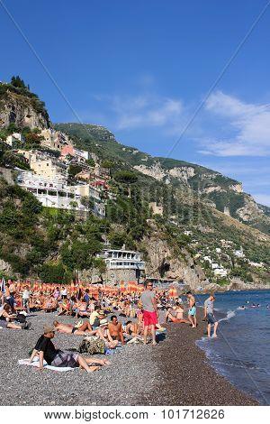 Beach In Positano, Italy