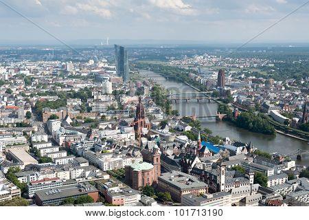 Skyline Of Frankfurt City In Germany