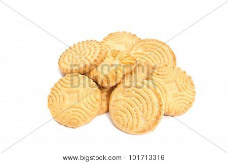 Some Fresh Cookies On White