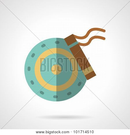 Car brakes flat color vector icon.