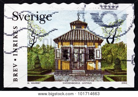 Postage Stamp Sweden 2003 Garden Pavilion
