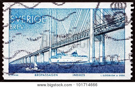 Postage Stamp Sweden 2000 Oresund Bridge
