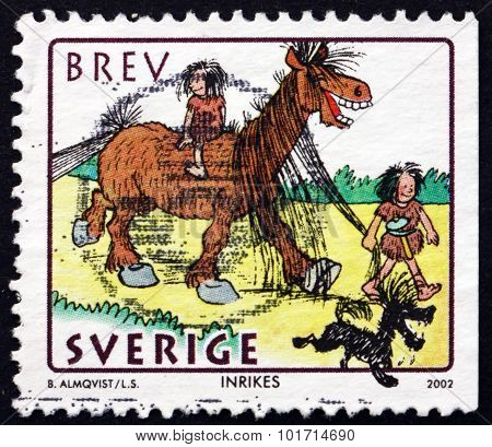Postage Stamp Sweden 2002 The Stones Family By Bertil Almqvist