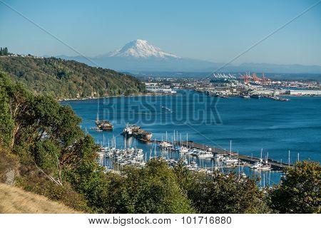Mount Rainier And Port 7