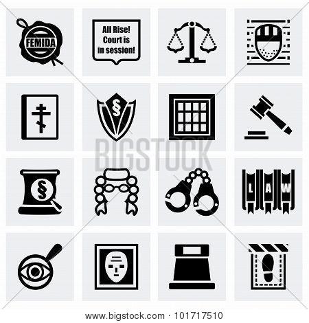 Vector Justice icon set