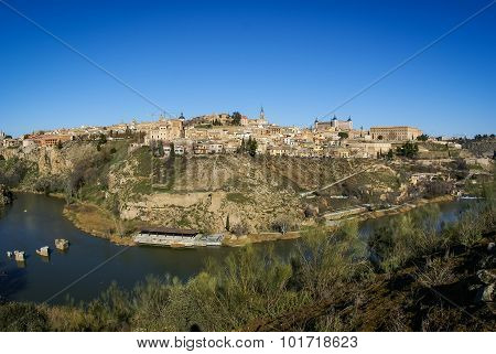 View Of Toledo From  Opposite Bank Of The River Tajo,
