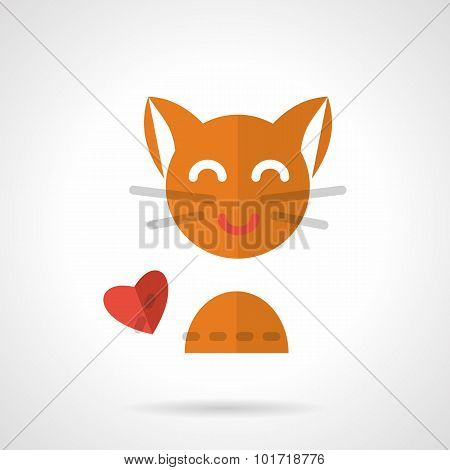 Pets love simple flat vector icon