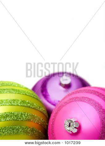 Bright Christmas Balls Close Up