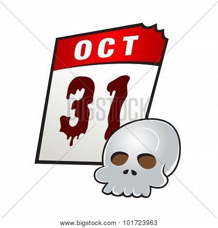 Halloween Day On Calendar