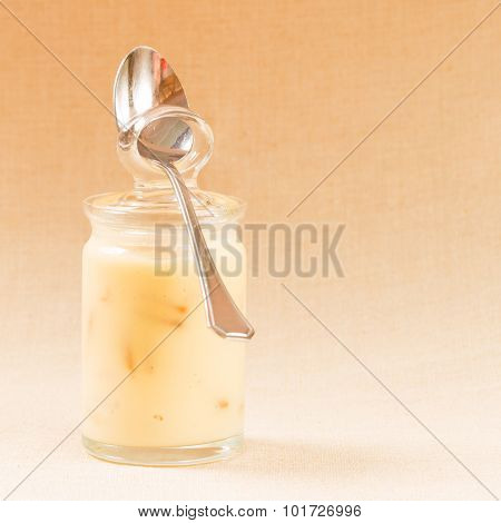 Banana Pudding In The Glass Jars