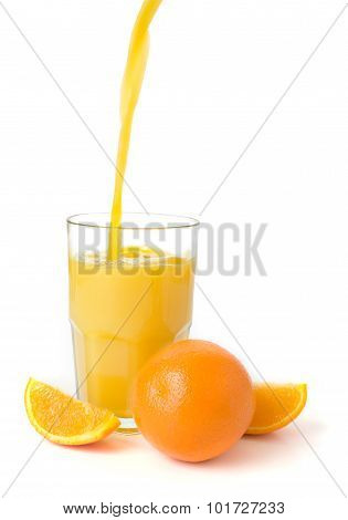 Fresh Oranges And Juice