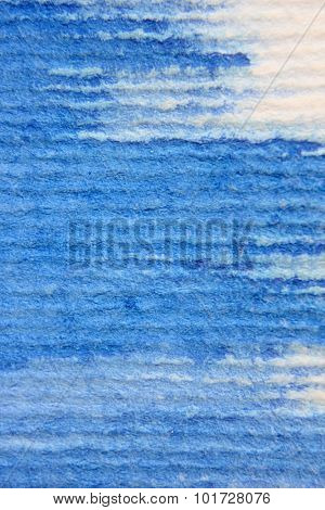 Macro Blue Watercolor on Textured paper 2