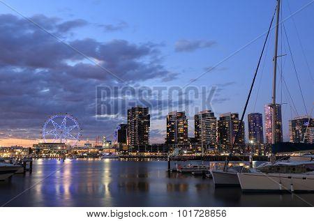 Melbourne Docklands cityscape Australia