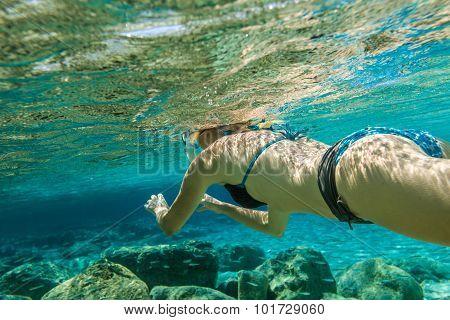 Woman snorkeler
