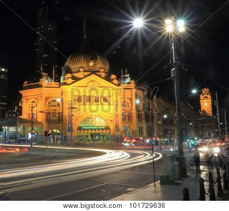 Flinders street train station Melbourne Australia