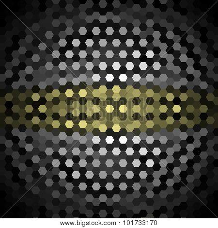 Khaki and Gray Hexagons Pattern Background
