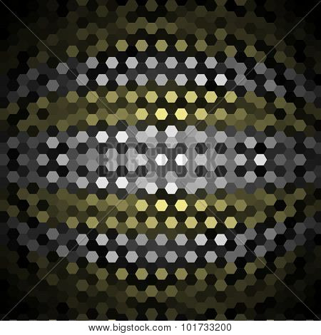 Khaki and Gray Hexagons Pattern Background
