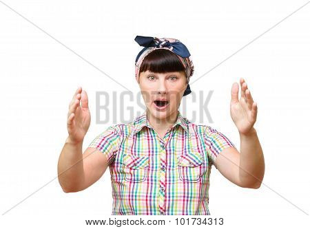 Young Woman Angry Screaming